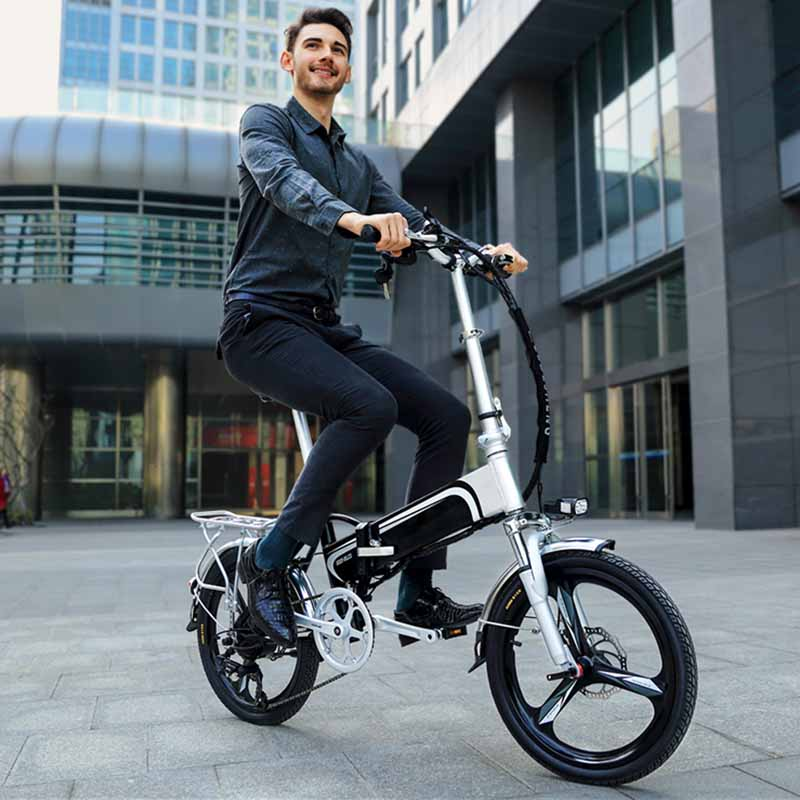 Giantplus-Gs5 Aluminium Electric Bicycle With Two Wheels | Buy Electric Bike Factory-13