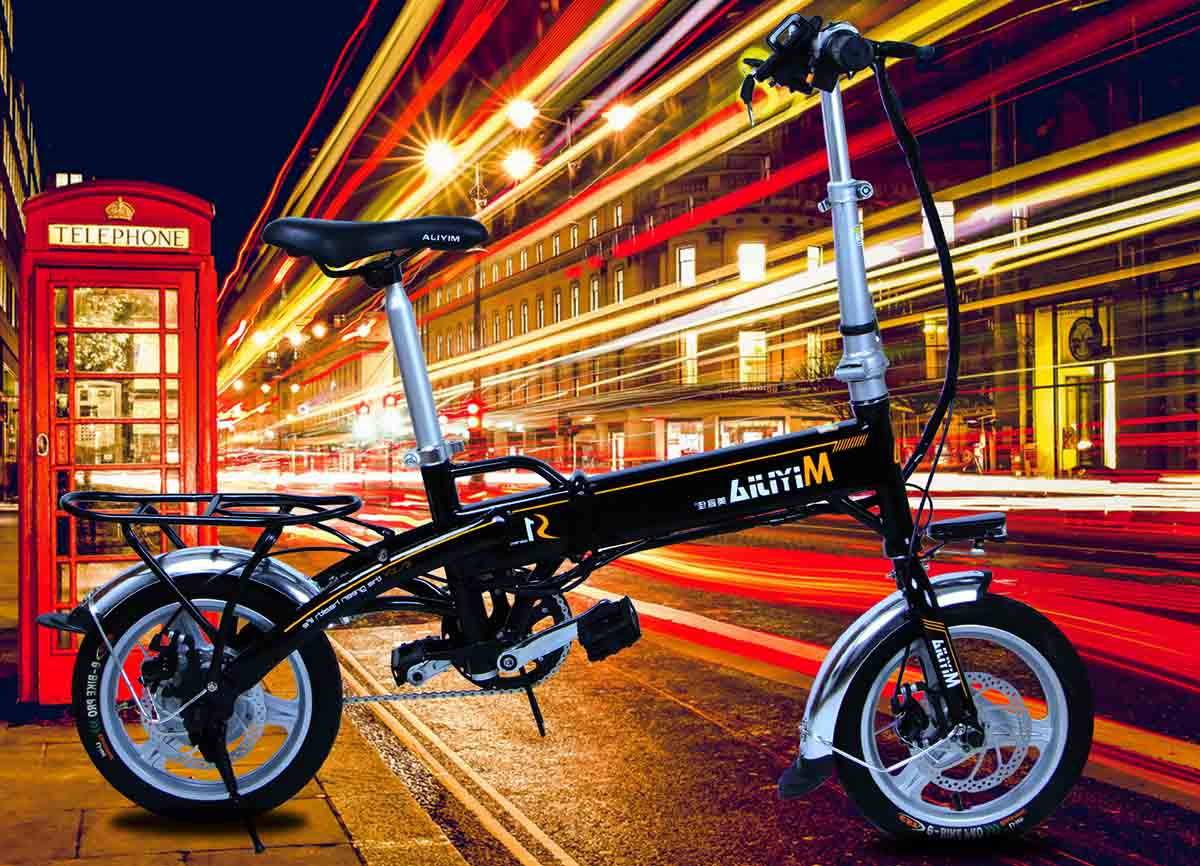 Giantplus-Best Electric Bicycles, Gs1 The Mini Electric Folding Bike-1