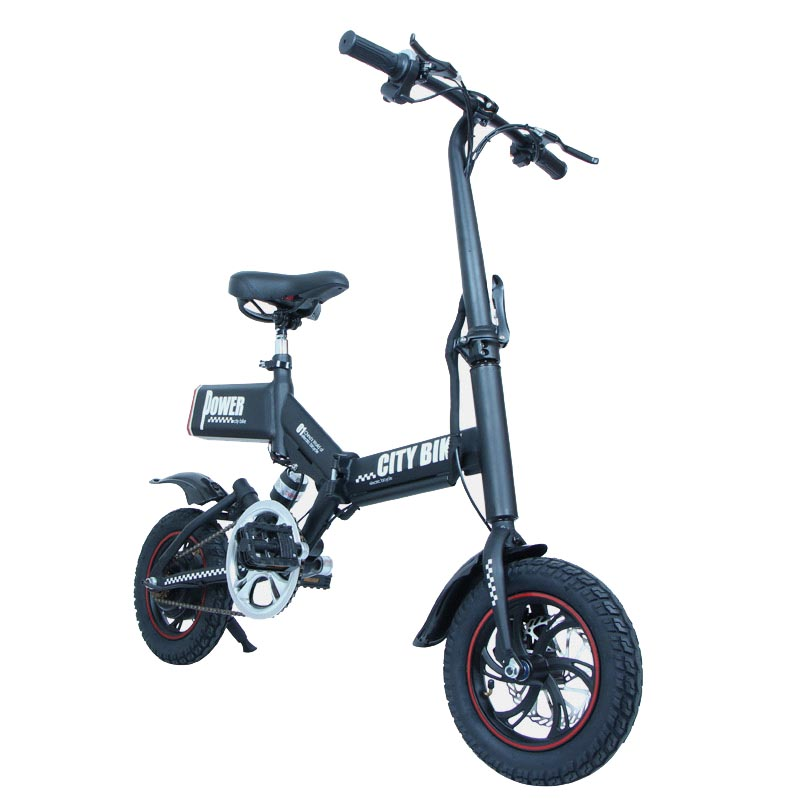 Giantplus-Find Electric Bicycle For Sale Gs6 Mini Black Foldable Electric Bike-1