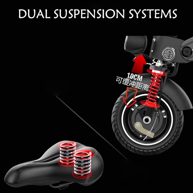 Giantplus-High-quality Price For Electric Scooter | T8 Sitting Folding Electric Scooter-3