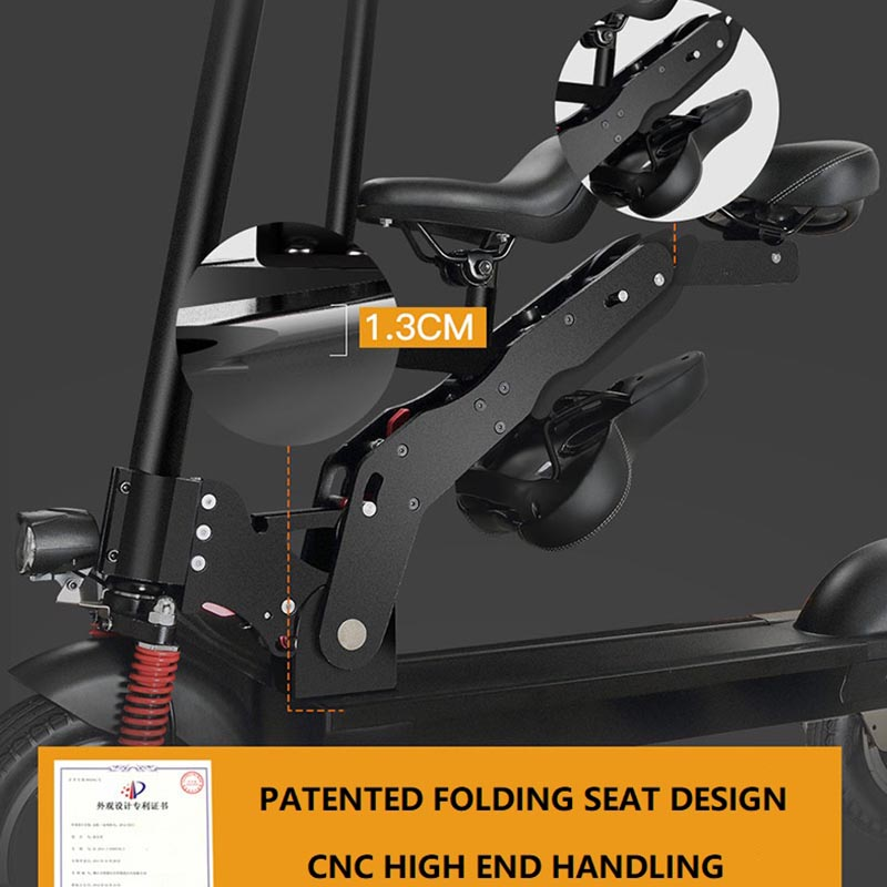 Giantplus-Electric Scooter Foldable T8 Sitting Folding Electric Scooter For Sale-4