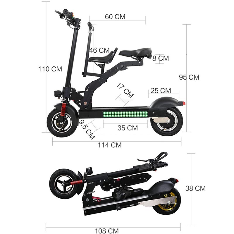 Giantplus-High-quality Price For Electric Scooter | T8 Sitting Folding Electric Scooter-12