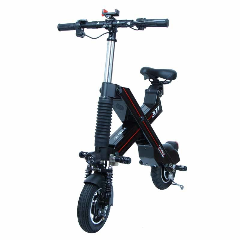 High speed black X8 adult folding electric scooter