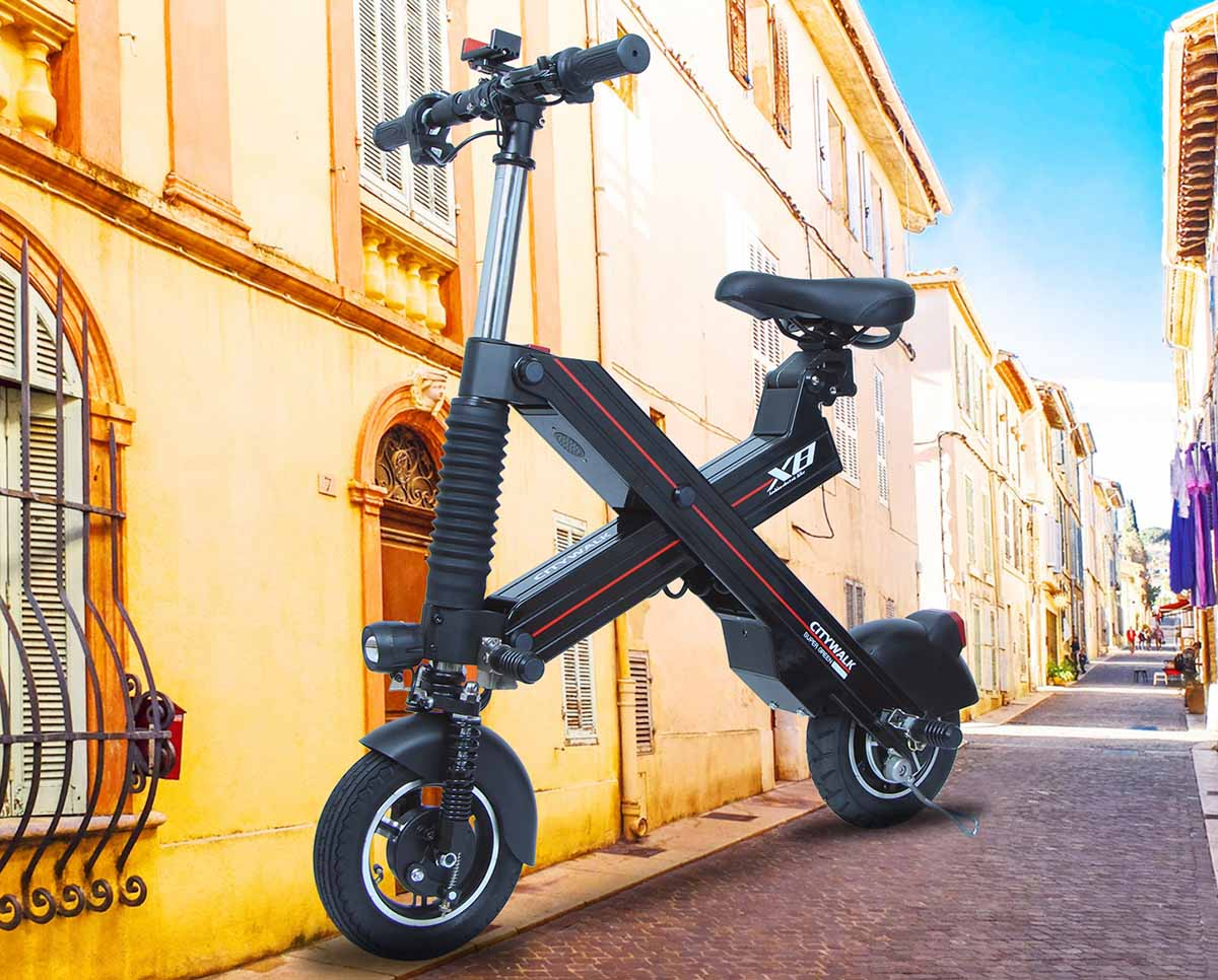 Giantplus-Electric Scooter | High Speed Black X8 Adult Folding Electric Scooter