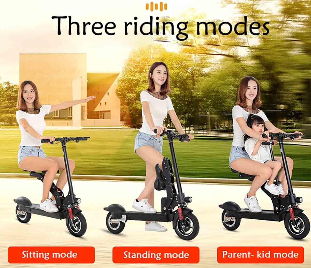 Giantplus-Fast Electric Scooter | T8 Sitting Folding Electric Scooter For Sale - Giantplus